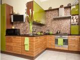 Кухонная мебель с крашеными МДФ и деревянными фасадами. Недорого
