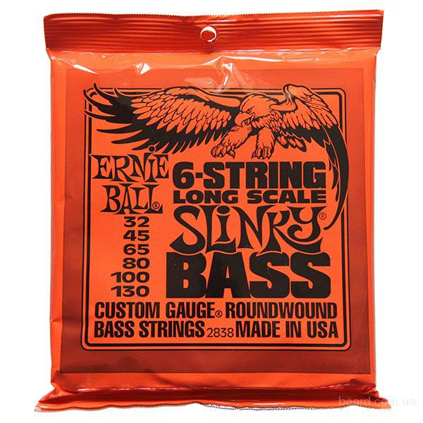 Струны бас Ernie Ball 2838 Long Scale Bass 6-String 32-130