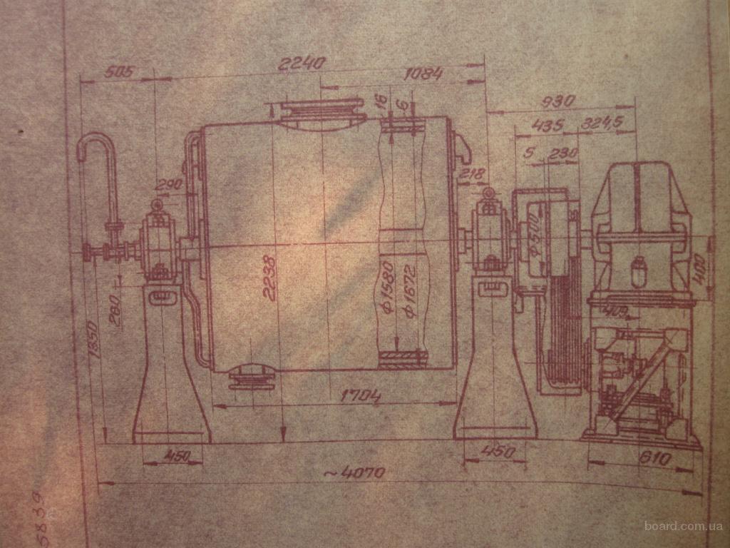 Шаровые мельницы объемом 0,4м3, 3м3