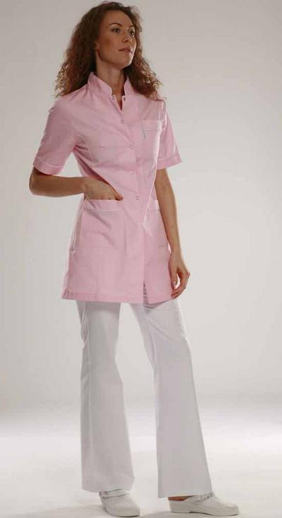 Костюм врача розовый