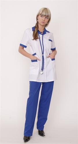 Костюм врача с синей отделкой