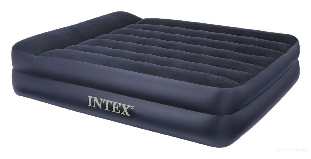 Надувная кровать Intex 66702 Rising Comfort 157х203х47см с насосом 220В