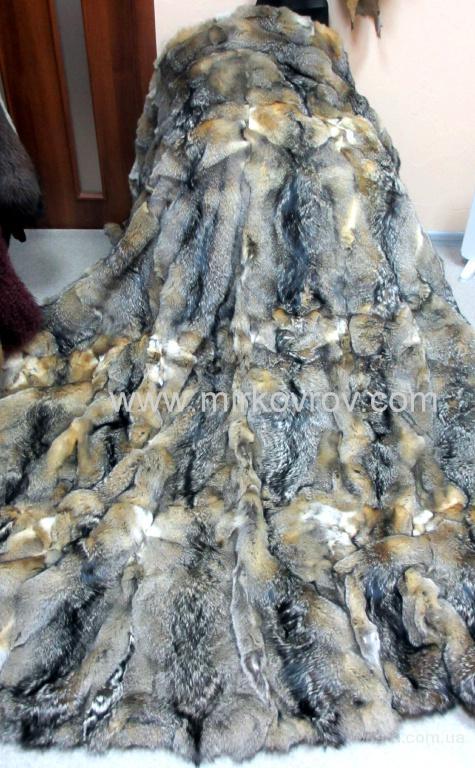 Покрывало из натурального меха койота