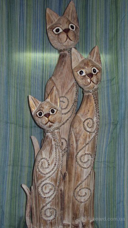 Кошка статуэтка деревянная