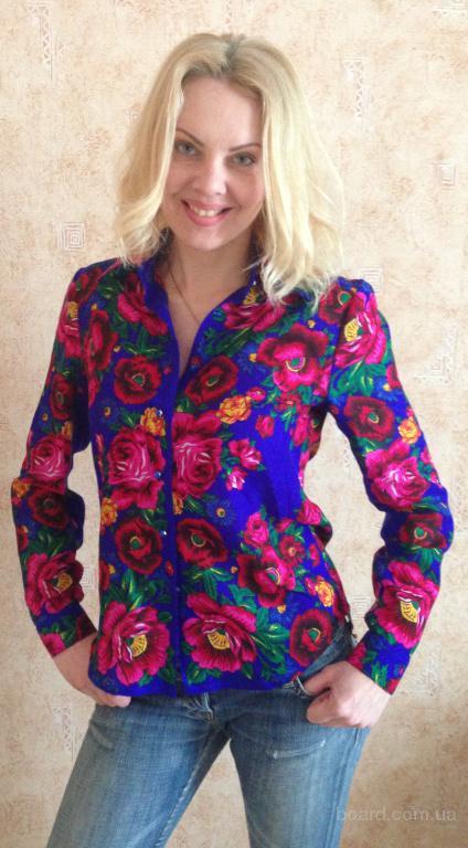 Рубашка женская из платка в стиле Матрешка