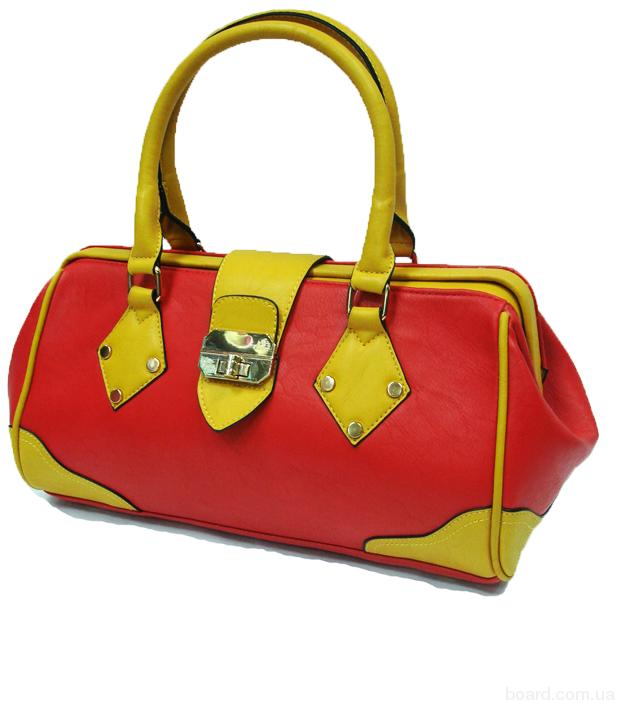 Яркая женская сумочка из искусственной кожи высокого качества.
