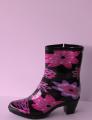 Гламурные укороченные силиконовые сапожки - сухие ножки.