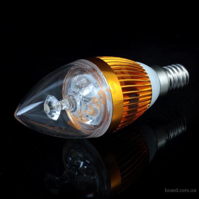 Светодиодная LED лампа 3W ~ 25 Вт цоколь Е14