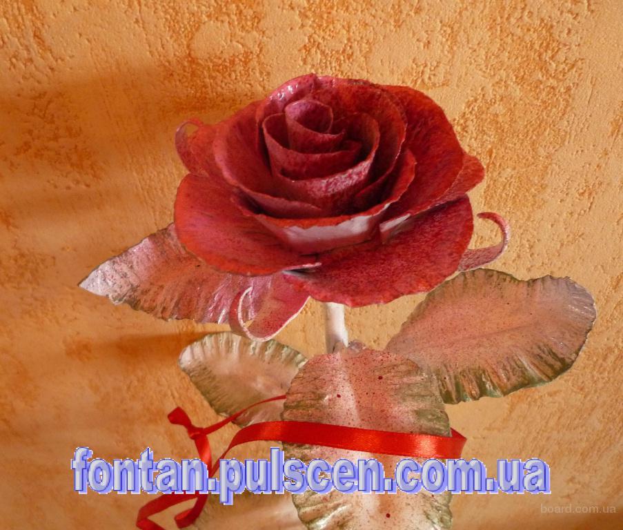 Кованые розы кованая роза кована троянда - подарок для девушки ( киев харьков одесса львов днепропетровск полтава. доступная цена)