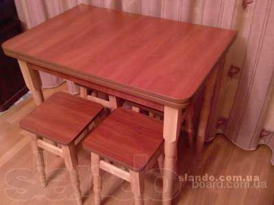 Стол раскладной и 4 табуретки 850гр
