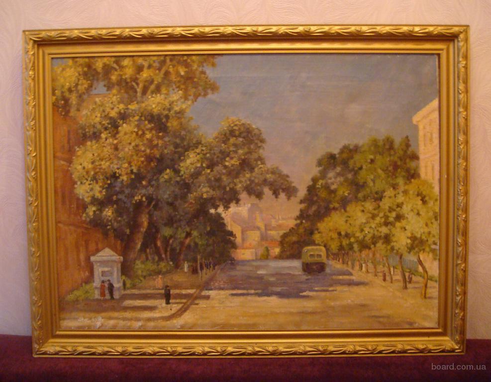 Продам картину -  « Городской пейзаж г. Киева в середине 50 гг. »