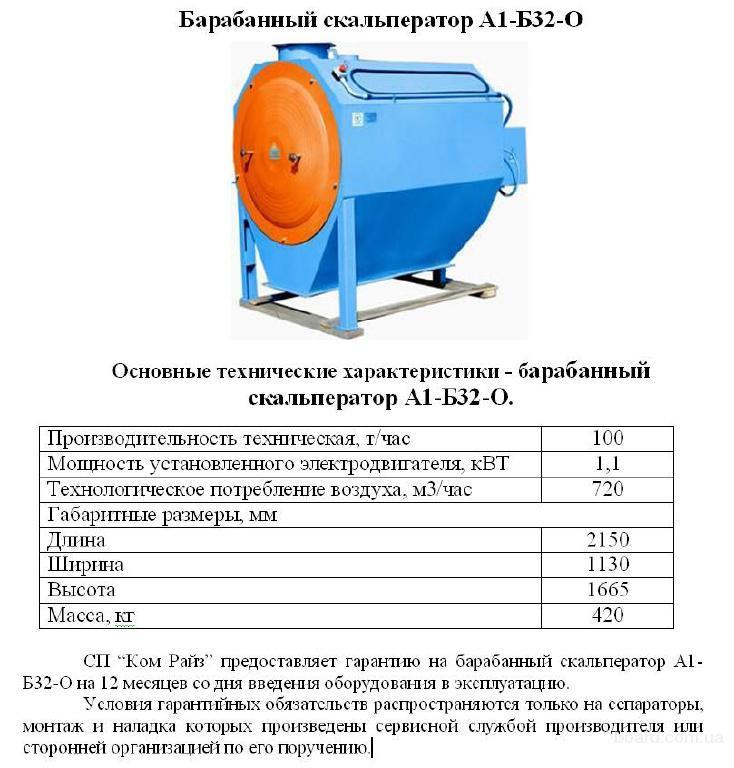 Производитель продает барабанные скальператоры А1-Б32-О