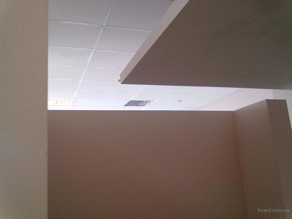 Монтажные работы, подвесные потолки, гипсокартон и прочие фотография.