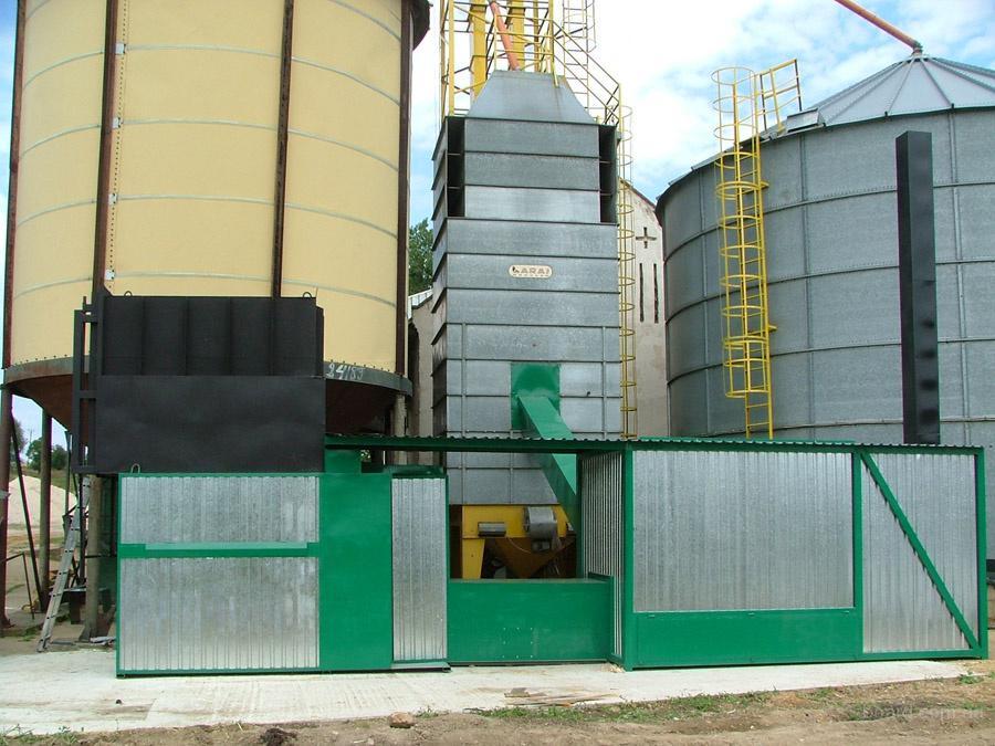 Сушка зерна. Зерносушилка. Солома вместо газа.