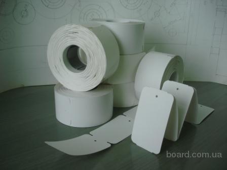Заготовки картонних бірок для одягу, 1000шт/рул.