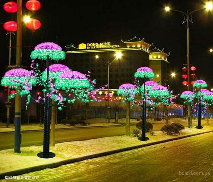 Как сделать светящиеся деревья