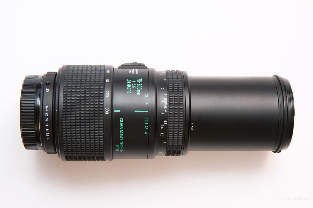Quantary (Sigma) AF LDO 70-300mm 1:4-5.6, Macro 1:2. Автофокусный объектив для всех камер Pentax.
