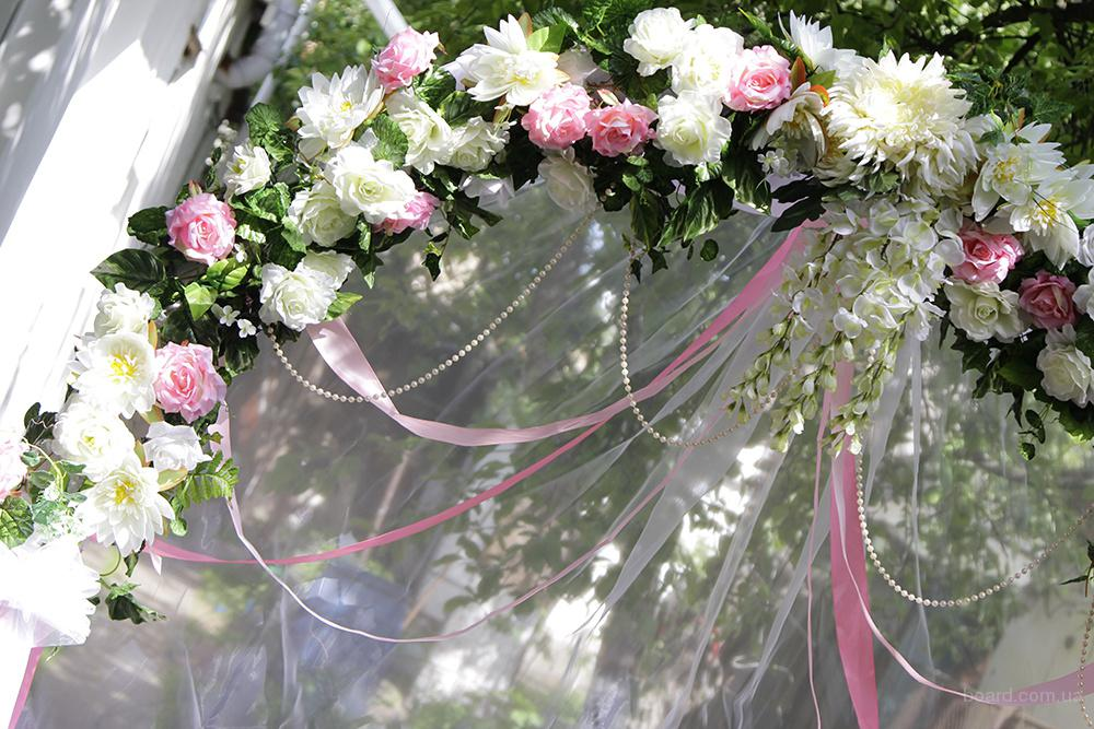 Арка на свадьбу, оформление выездной церемонии, украшение зала