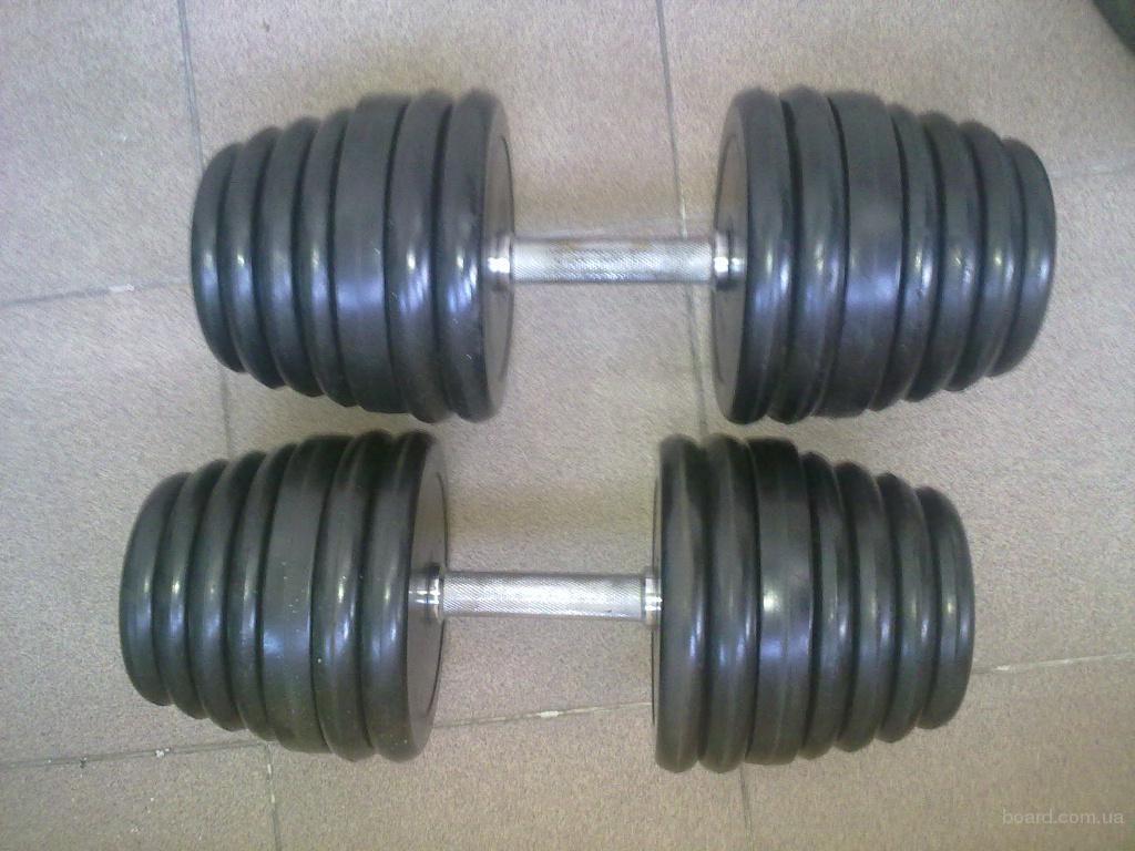 Б/у инвентарь: гантели 2 шт по 20 кг гантели разборные, использовались 3 года
