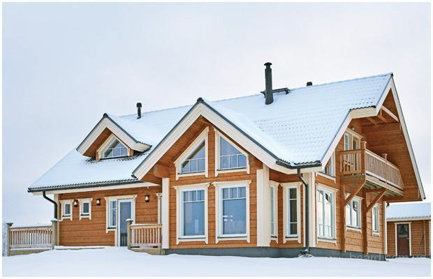 Настоящие деревянные дома из клееного профилированного бруса и каркаса производства Финляндии