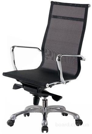 Офисное кресло из сетки Невада черное