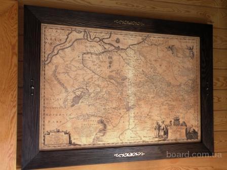 Генеральная карта Украины 1648 г.(Боплан)