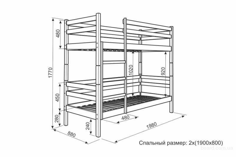 Кровати двухъярусные из дерева чертежи и ход работы