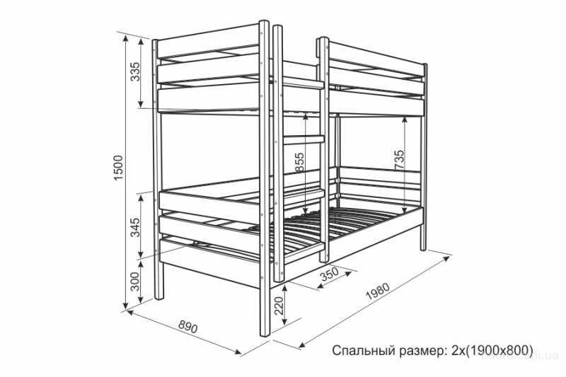 Двухъярусные кровати своими руками из дерева чертежи