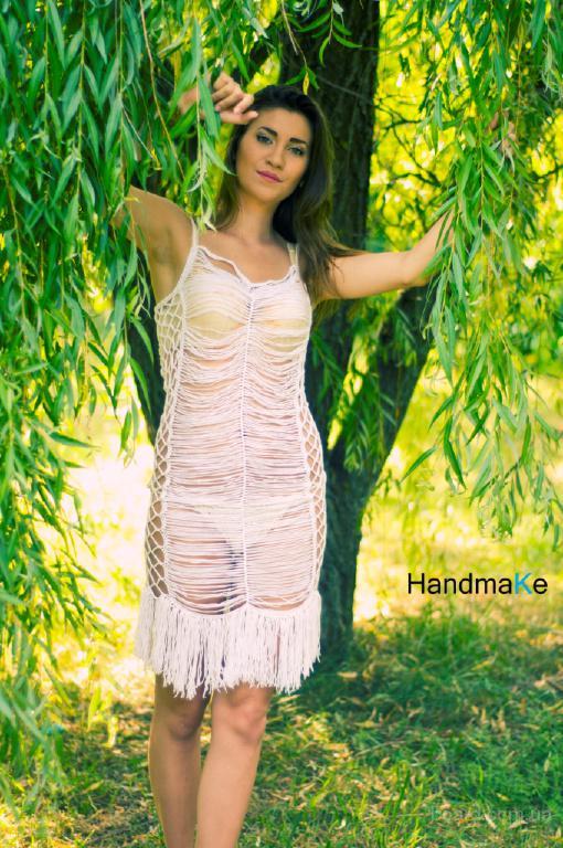 Ажурное вязаное платье Жемчужина