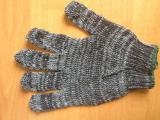 Перчатки вязаные серые