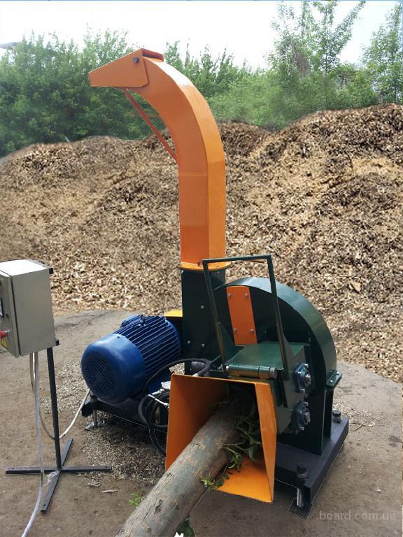 Biber 80 - Щепорез, измельчитель древесины с манипулятором.