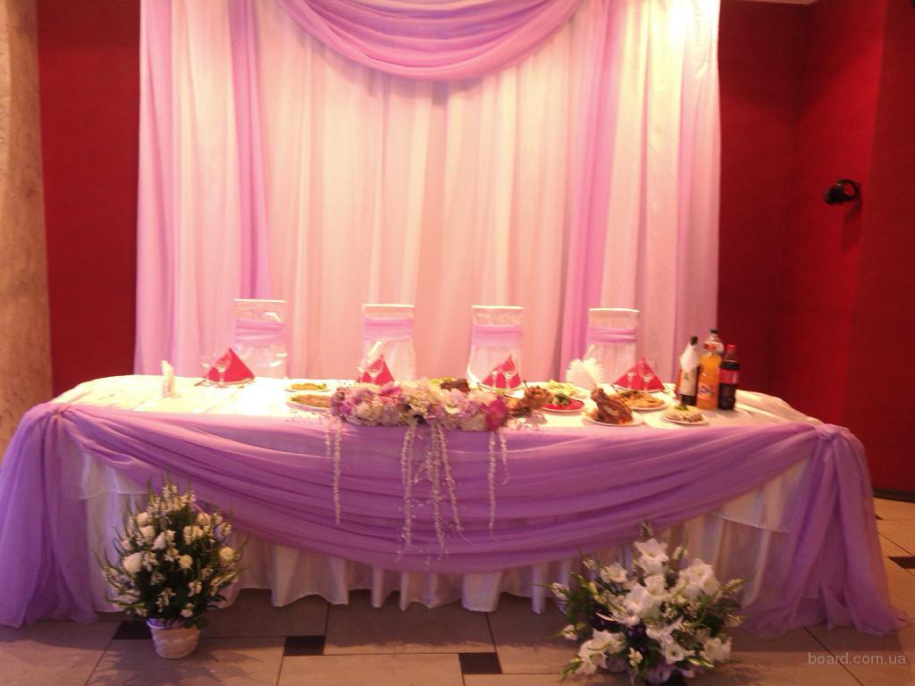 Оформление свадебного стола и заднего