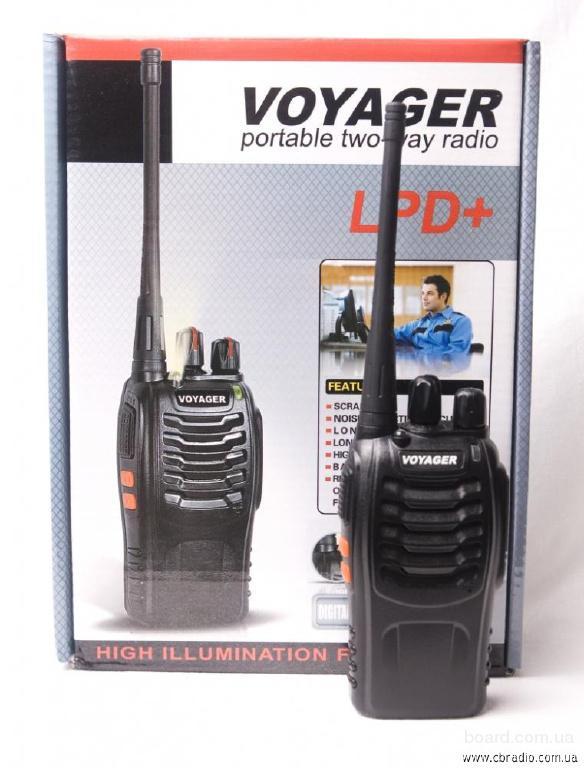 Комплект из двух Раций, радиостанций Voyager LPD+