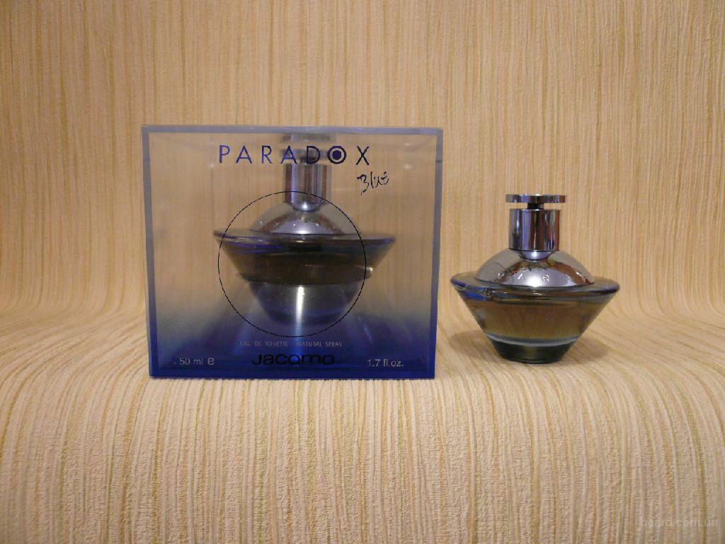 Jacomo - Paradox Blue (1998) - edt 50ml - Редкая Оригинальная Парфюмерия