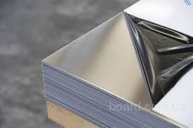 Нержавеющий лист 0,4мм полированный зеркальный в плёнке технический AISI 430 12х17 нержавейка