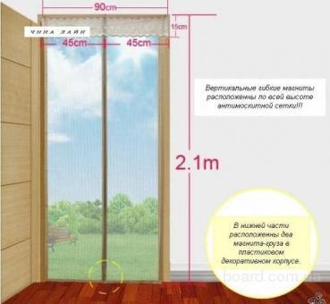 Антимоскітна сітка для дверей на магнітах
