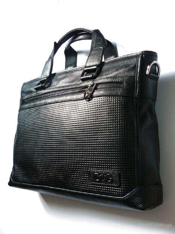 Мужской кожаный портфель D&G распродажа