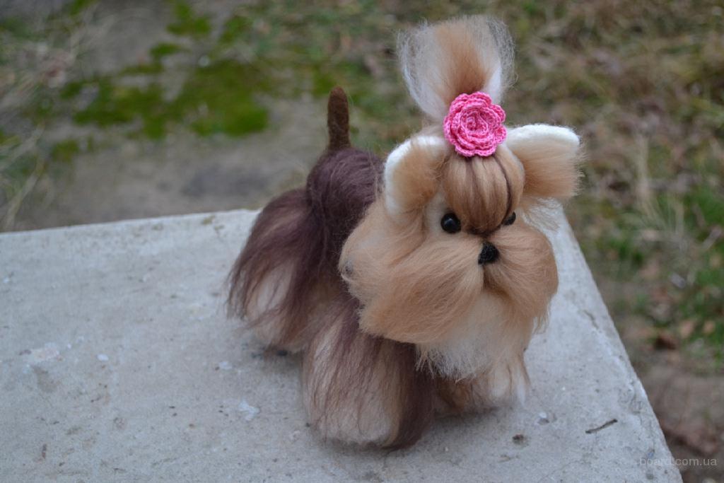 Изготовление копий домашних животных из шерсти.