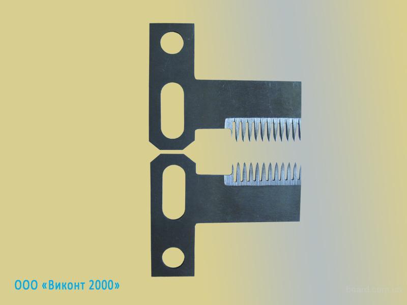 Нож фигурный зубчатый для прорыва упаковочных пленок во время фасовки-упаковки пищевой продукции