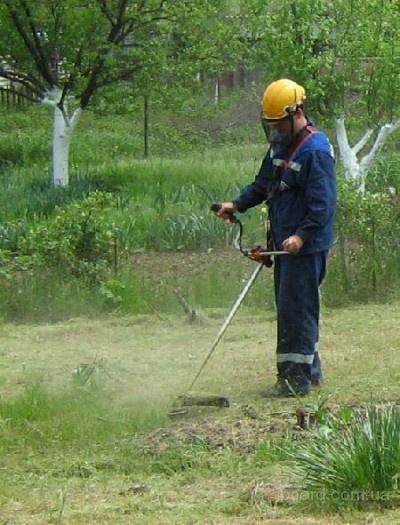 скосить траву покос травы донецк
