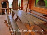 Садовая мебель, беседки, навесы, пергола из дерева под старину