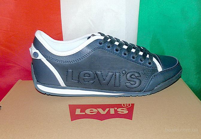 Кроссовки кожаные levis Италия оригинал
