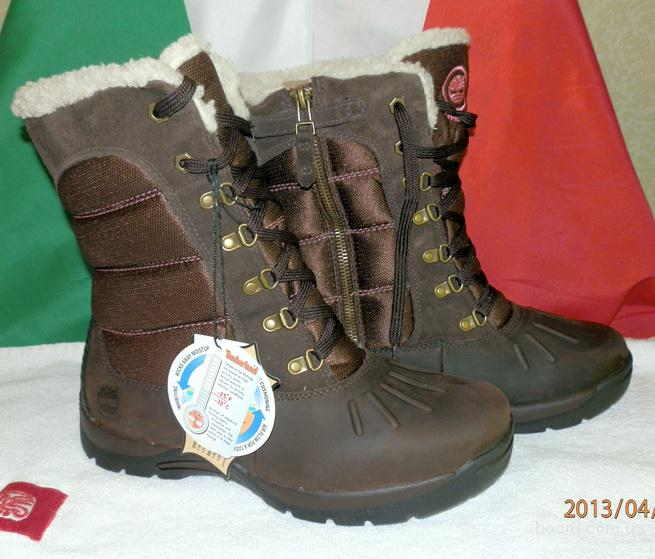Ботинки зимние женские кожаные фирмы Timberland Mallard Tall оригинал из Италии
