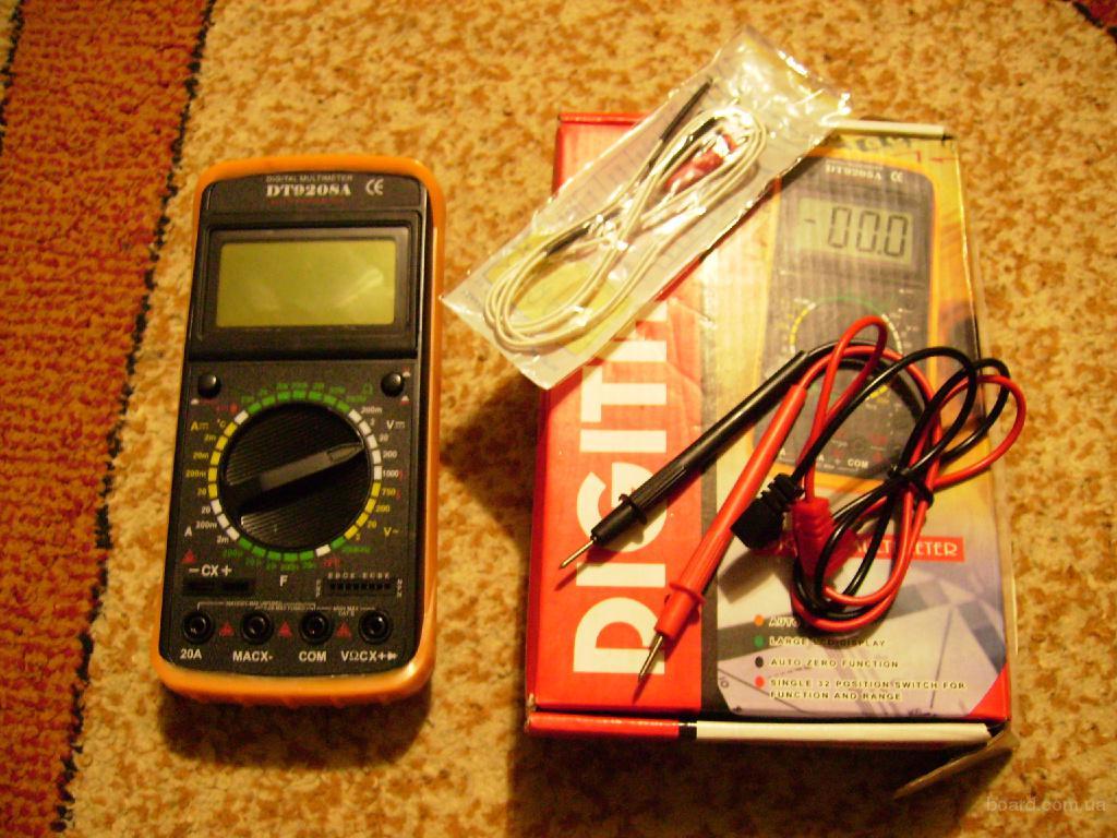 Мультиметр DT-9208A.