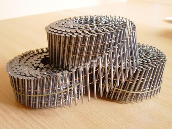 Гвозди кольцевые крученые 40, 50, 60, 70, 80, 90 мм - для изготовления поддонов на бобинах по 250 шт для пневмопистолета. Дюбель-гвоздь 4,5х30-60