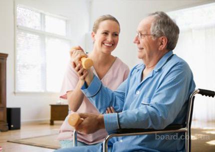 Услуги сиделки по уходу за больными, пристарелыми