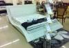 Кровать, стильная кровать, кожаная кровать, анатомический матрас, тумба.