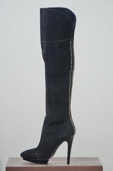 Сток обуви. Сапоги женские. Сделано в Италии. Обувь оптом.