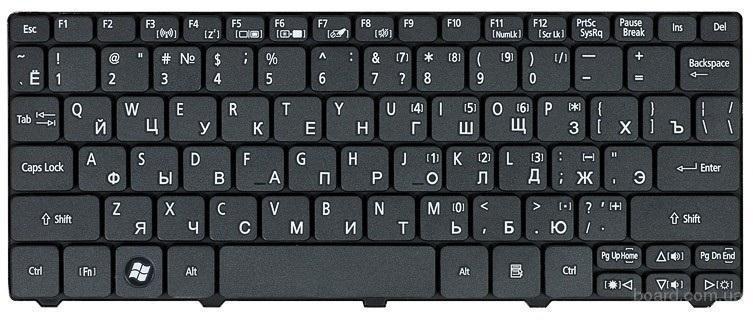 Клавиатура Acer Aspire One D257-N57Cbb D257-N578kk Новая