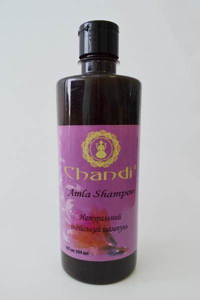 """Натуральный индийский шампунь """"Амла"""" 200мл., Chandi"""